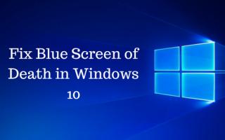 Исправление синего экрана смерти в Windows 10