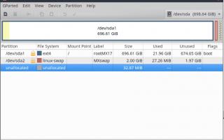 Разбейте ваш жесткий диск на легкий путь с помощью GParted