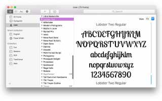 Как вручную установить шрифты на вашем Mac