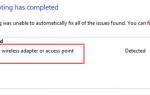 Исправлена проблема с беспроводным адаптером или точкой доступа в Windows 10