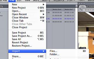 Научитесь импортировать видео в Final Cut Pro 7
