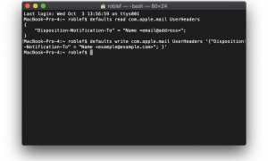Как запросить уведомления о прочтении в MacOS Mail
