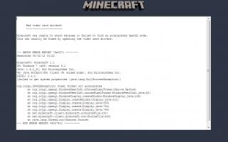 Как исправить плохие драйверы видеокарты Crash Minecraft на Windows