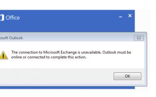 Решено : Соединение с Microsoft Exchange недоступно. Ошибка Outlook.