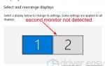 Исправить второй монитор не обнаружен в Windows 10