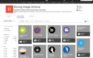 Интернет-архив: бесплатные онлайн фильмы и телепередачи