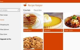 5 лучших кулинарных приложений для Windows 10