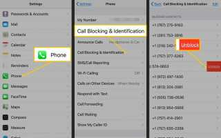 Как разблокировать номер на iPhone или iPad