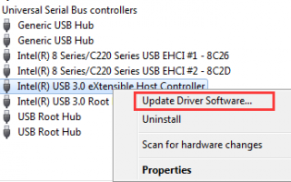 Загрузить драйверы Intel USB 3.0 для Windows 10