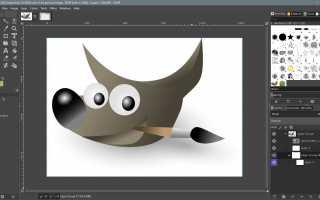 Введение в группы слоев в GIMP