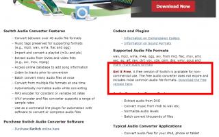 Как конвертировать WAV в MP3 с помощью переключателя