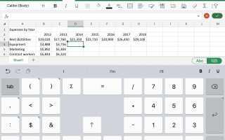 Используйте iPad Office для создания диаграмм в PowerPoint или Word