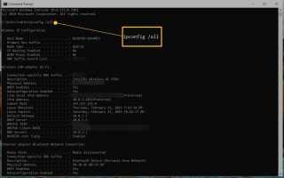 Как найти свой IP и MAC-адрес в Windows