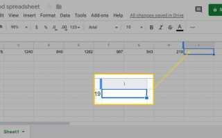 Как использовать функции в Google Sheets