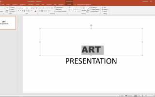 Как отформатировать текст с помощью PowerPoint Format Painter