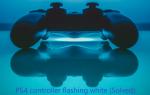 Контроллер PS4 мигает белым