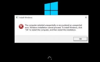 Исправлено Компьютер перезапустил неожиданно цикл Windows 10