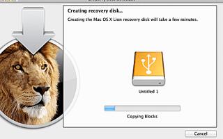 Использование Macs Recovery Disk Assistant