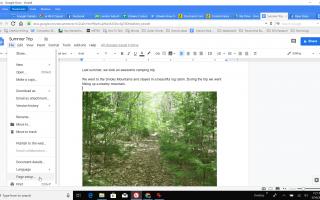 Как сделать Google Docs Landscape