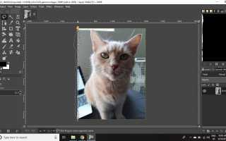 Как сделать рваный край бумаги в GIMP