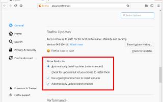 Как мне обновить Firefox? (Самое последнее: Firefox 69)