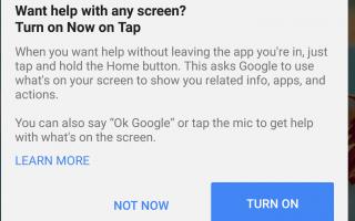 Как использовать Google Now на Tap на Android