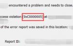 Как исправить ошибку 0xc0000005 в Windows
