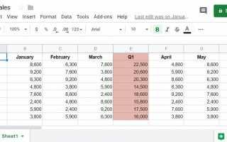 Как поделиться Google Sheets