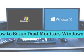 Как настроить двойные мониторы Windows 10? Рабочее руководство