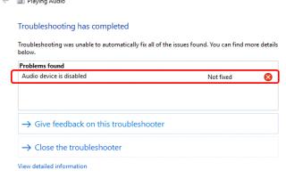 Звуковое устройство отключено Проблемы в Windows 10