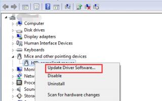Исправить проблему с драйвером сенсорной панели Dell для Windows 7