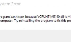 Vcruntime140.dll отсутствует, программа не запускается в Windows 10