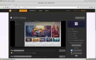 Как получить GOG Galaxy на Linux