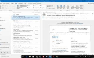 Как изменить размер шрифта в списке сообщений Outlook