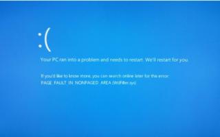 Исправление ошибок Page_fault_in_nonpaged_area в Windows 10