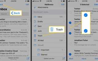 Как удалить удаленные письма с вашего iPhone