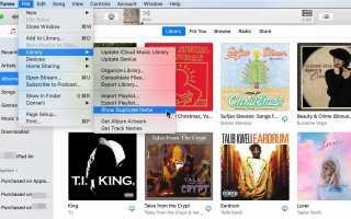 Удалить дубликаты песен в iTunes для iPhone и iPod