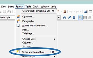 Как добавить заголовок только на первую страницу в LibreOffice