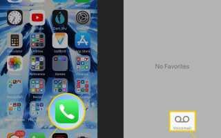 Использование визуальной голосовой почты на iPhone