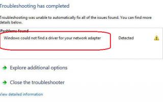Как исправить ошибку Windows не смог найти драйвер для вашего сетевого адаптера