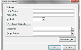 Как добавить форму с KompoZer