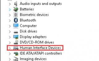 Устранить проблему с прокруткой Synaptics Touchpad в Windows 10