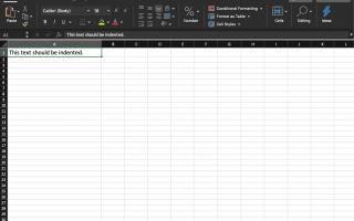 Как сделать отступ в Excel