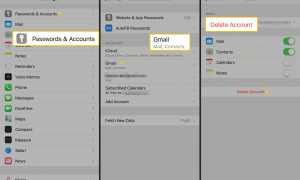 Как удалить учетную запись электронной почты на iPhone