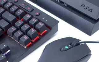Как подключить и использовать клавиатуру и мышь на PS4
