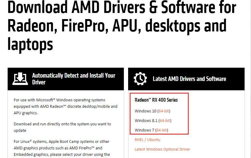 AMD Radeon RX 460 Drivers Download Easily