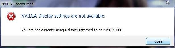 How to Fix NVIDIA Display Settings Are Not Available Error