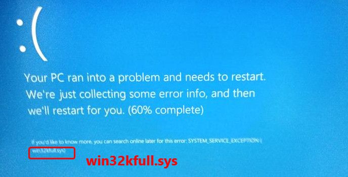 How To Fix win32kfull.sys Blue Screen Error