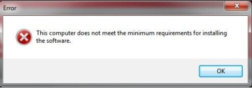 "Get Error ""This computer does not meet the minimum requirement for installing software."" When Installing Intel Graphics Driver"