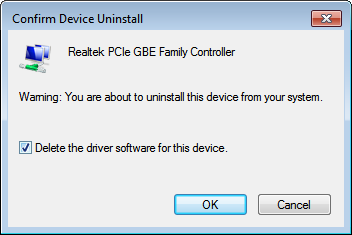 Solved Realtek PCIe GBE Family Controller Driver Problem for Windows 7